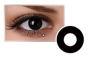 BLACK EYES Halloween SFX Crazy Color Contact Lenses A1