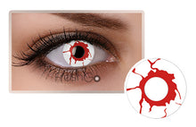 BLOODSHOT EYES Halloween SFX Crazy Color Contact lenses A23