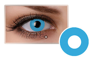 PURE BLUE Halloween SFX Crazy Color Contact Lenses A2