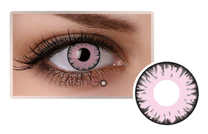 PINK Halloween SFX Crazy Color Contact Lenses A30
