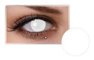 BLIND WHITE OUT Halloween SFX Crazy Color Contact Lenses A32