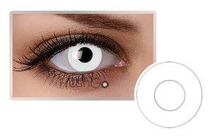 WHITE Halloween SFX Crazy Color Contact Lenses A3
