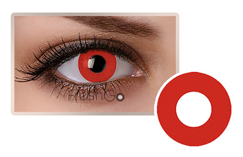RED Halloween SFX Crazy Color Contact Lenses A04