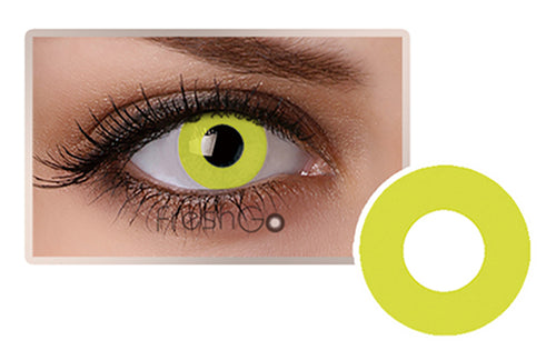 PURE YELLOW Halloween SFX Crazy Color Contact Lenses A5