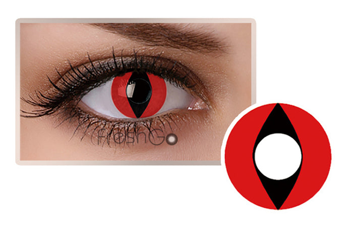 RED CAT EYES Halloween SFX Crazy Color Contact Lenses A9