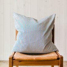 Ticking Stripe Accent Pillow - Navy