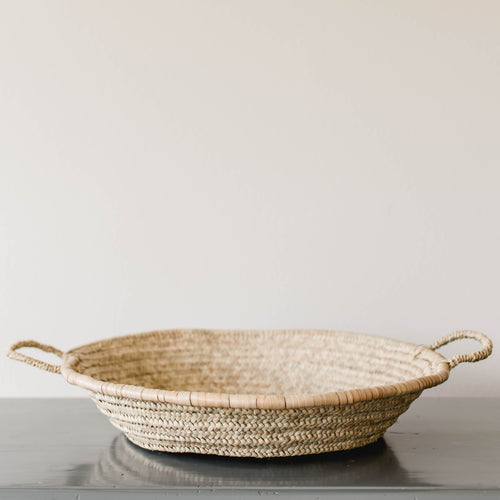 Palm Leaf Storage Basket
