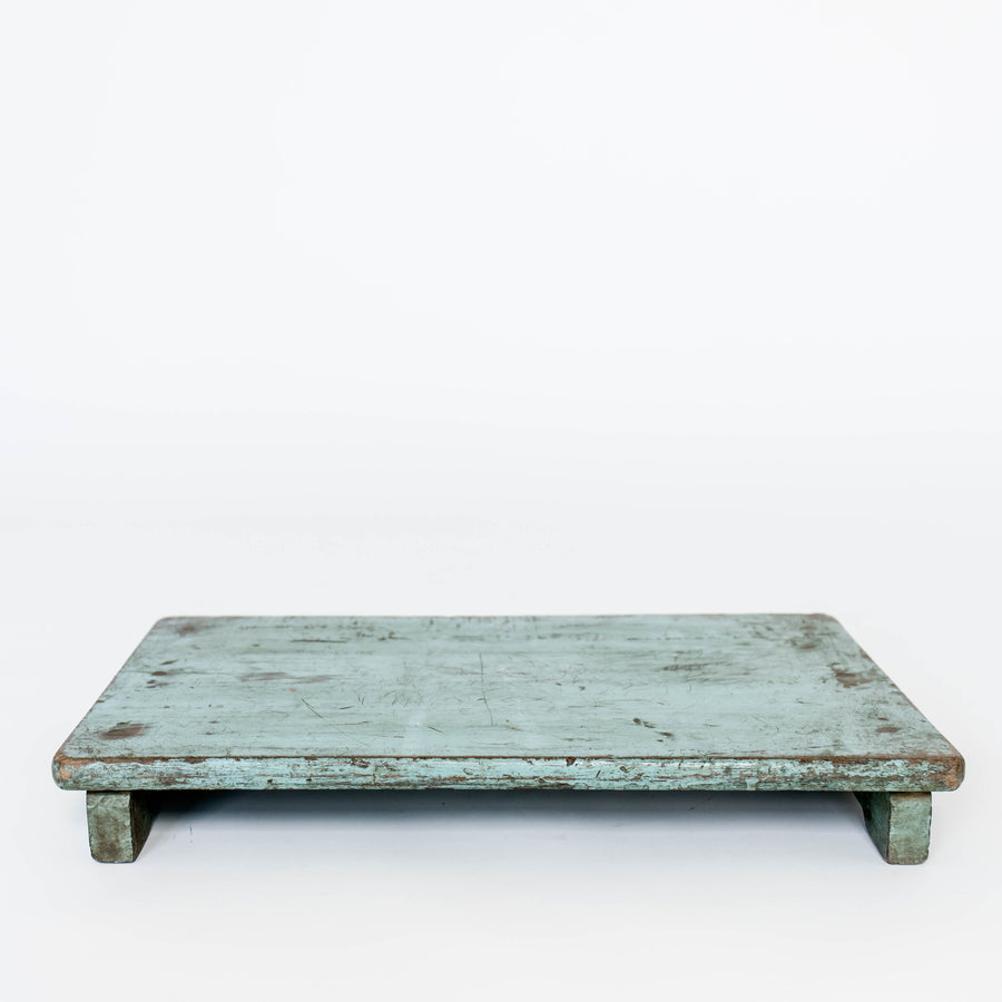 Wood Riser Distressed Teal