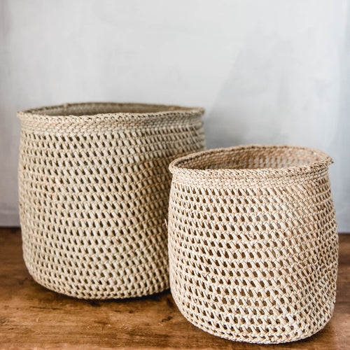 Open Weave Storage Basket