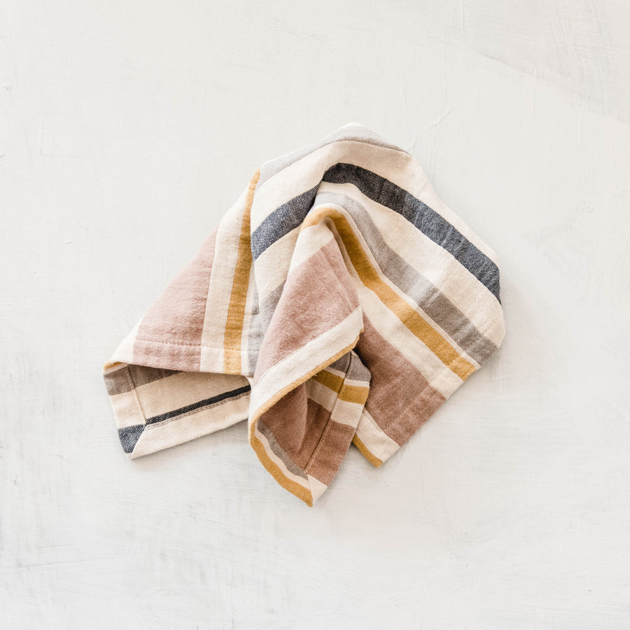 Washed Cotton Napkin - Rose Stripe