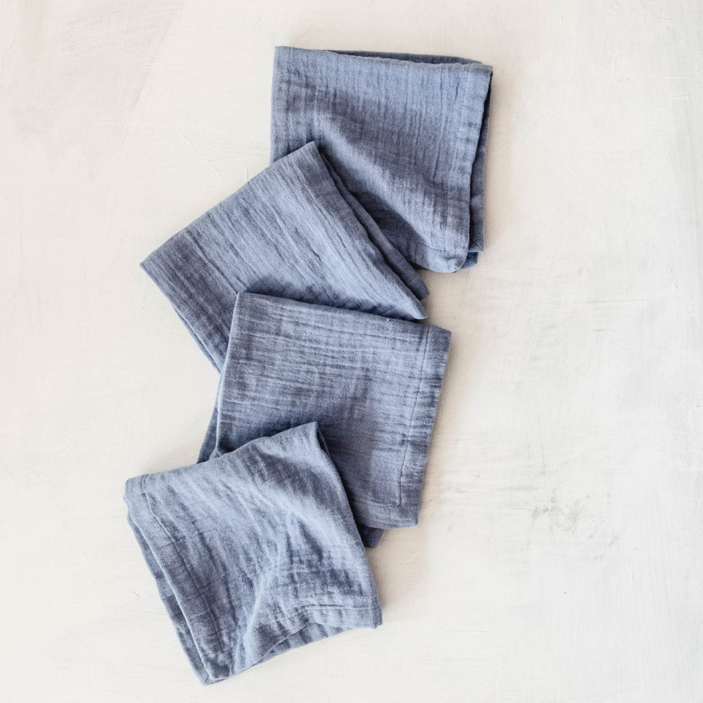 Washed Cotton Napkin - Azul