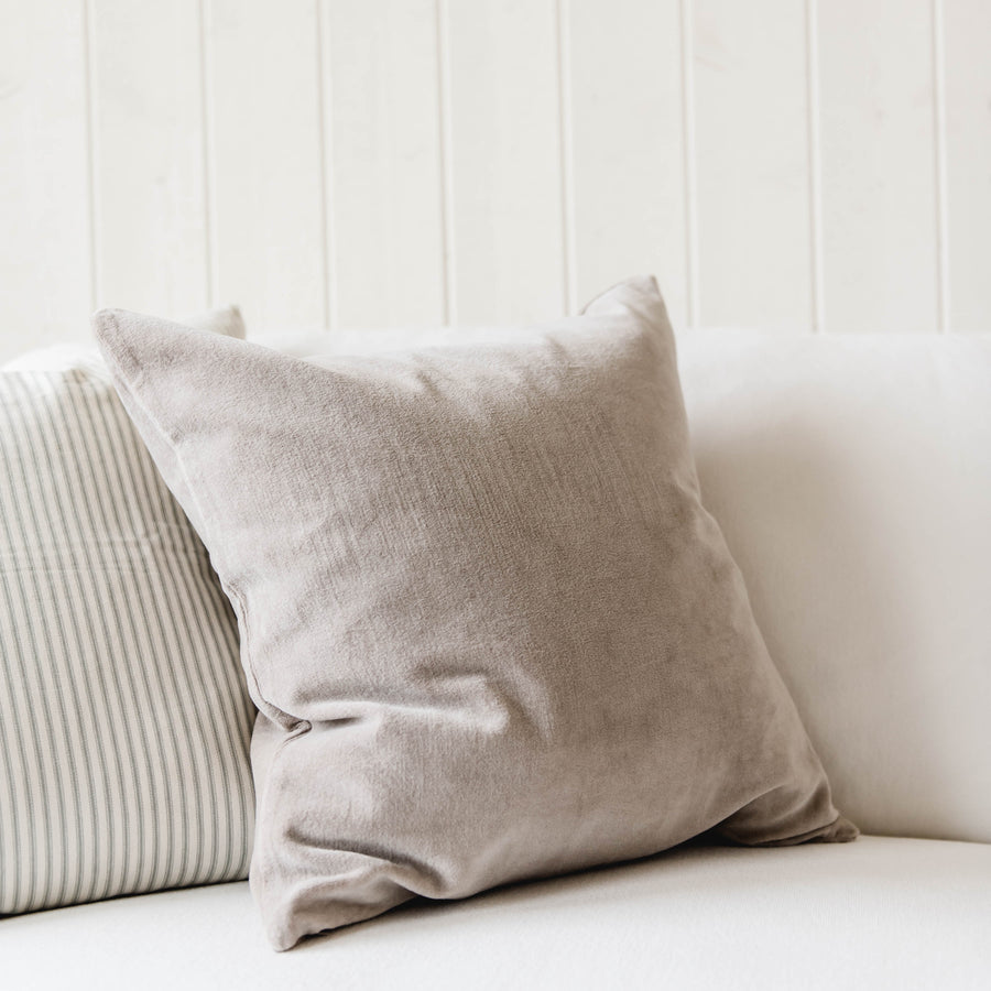 Velvet Accent Pillow - Grey