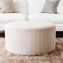 Grant Upholstered Ottoman - Round