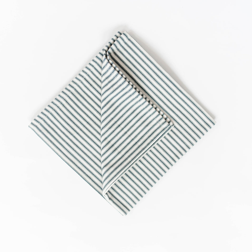 Ticking Stripe Napkin - Navy