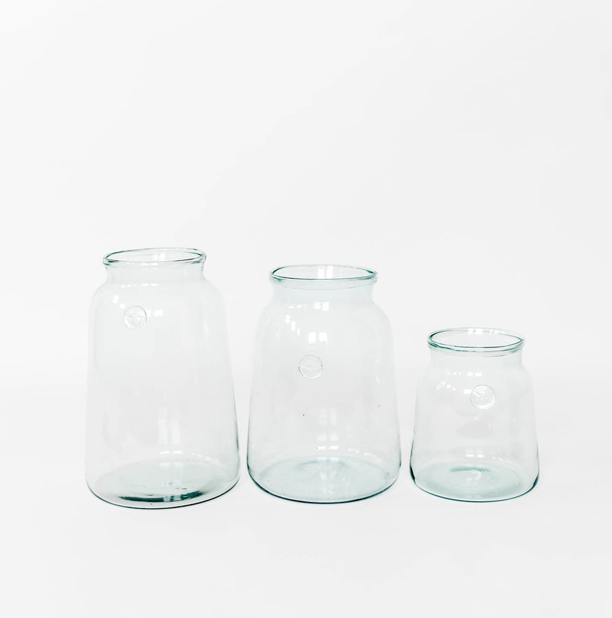 French Mason Jar Vase