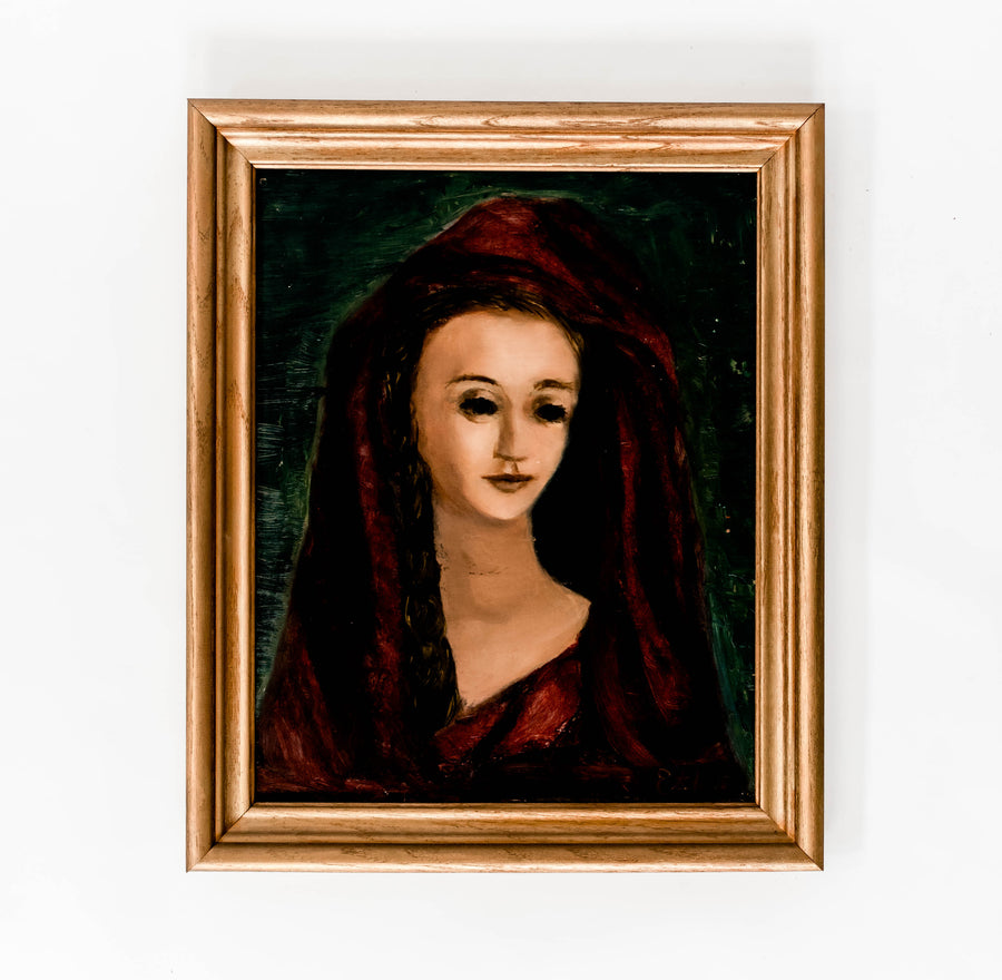 Lady in Red Painting
