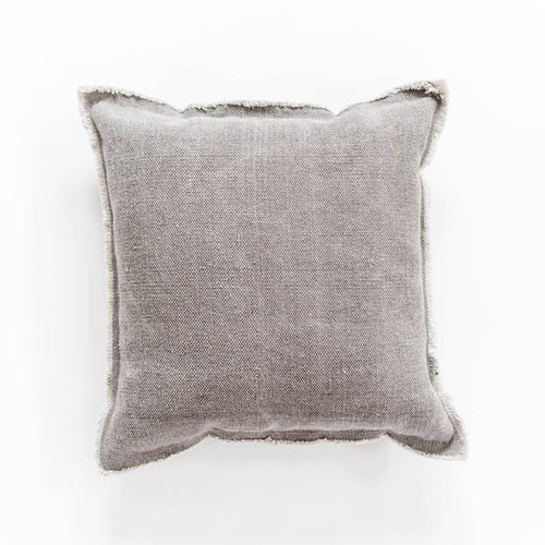 Nubby Cotton Pillow - Grey