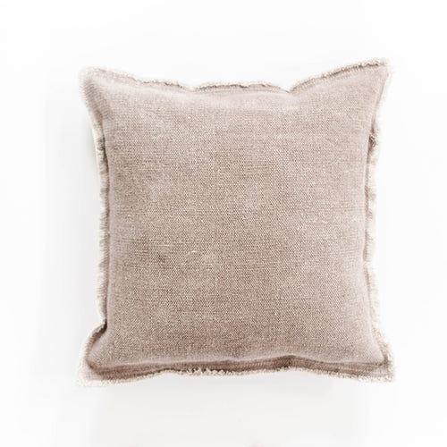 Nubby Cotton Pillow - Dusty Rose