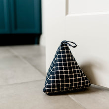 Chambray Check Weighted Doorstop
