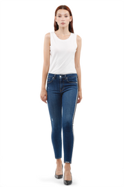Arianna Skinny Jeans side stripe tape in Labor
