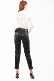 Ally Tapered Jeans in Black Coating