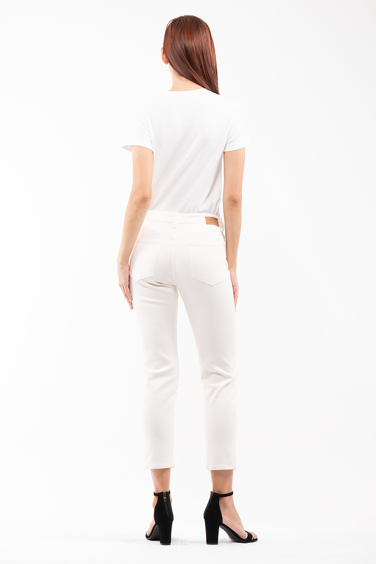 Ally Tapered Jeans in Cream