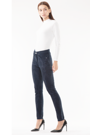 Arianna Skinny Jacquard Jeans in Navy