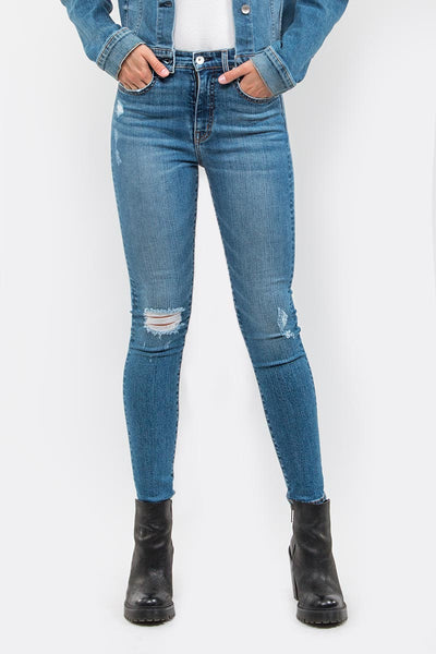Arianna Distressed Skinny Jeans in Labor