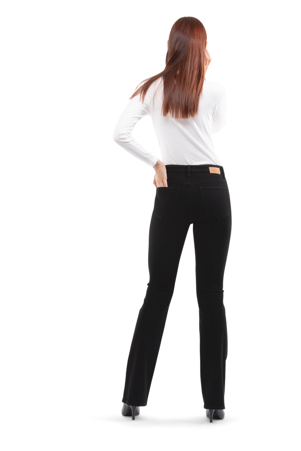Bianca Boot Flare Jeans in black
