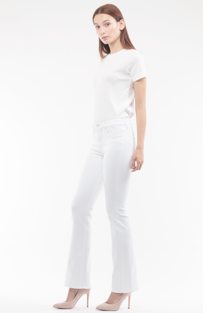 Bianca Boot Flare Jeans in White