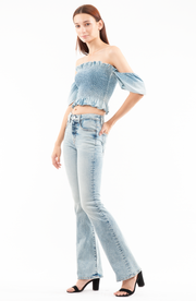 Bianca Boot Flare Jeans in Salt