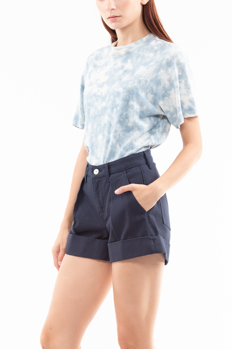 Brendan High Rise Pleated Short
