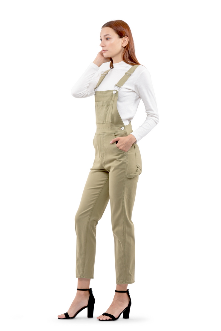 Carly Overalls in Olive
