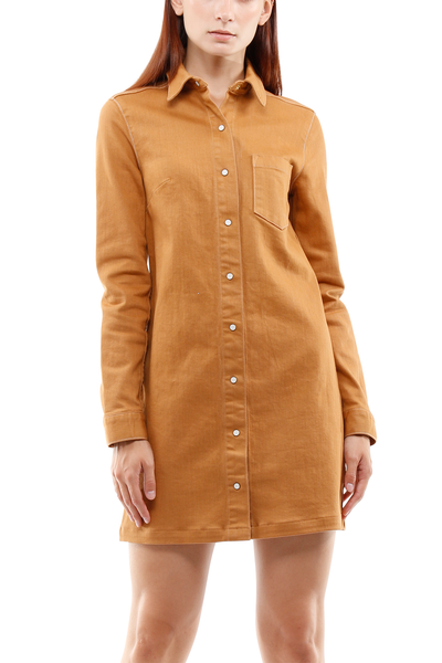 Taylor Snapbutton Dress in Canvas