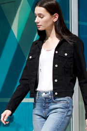 Kathleen Box Crop Jacket in Black