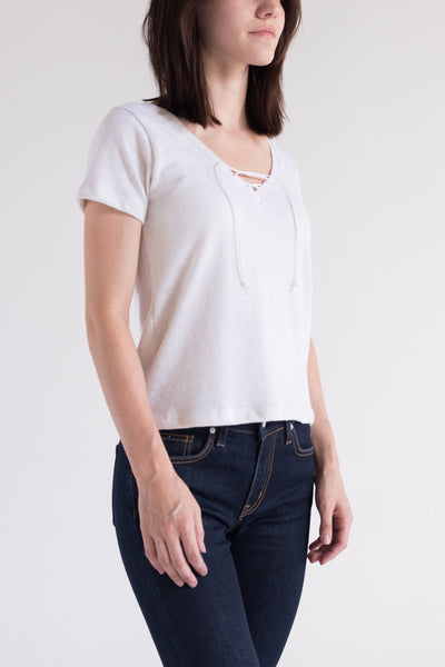 Frances Lace Up Tee