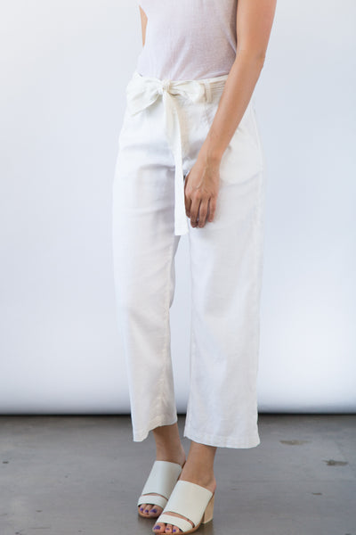 Chloe Dart Trouser in Cream