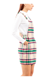 Gail Overall Skirt in Plaid
