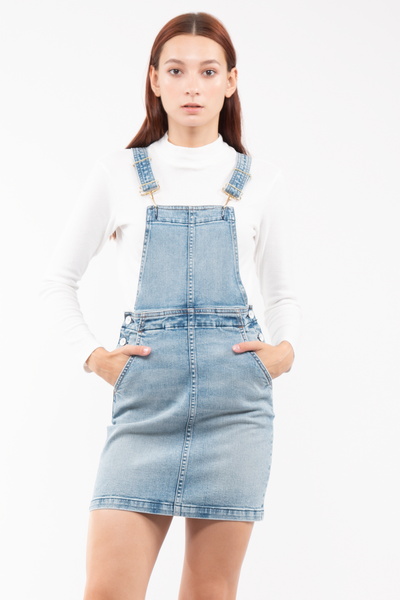 Gail Overall Skirt in Salt
