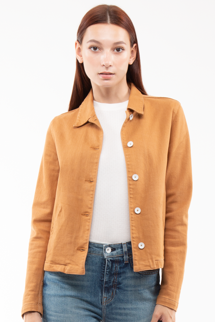 Gwen Welt Pocket Jacket in Canvas