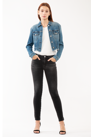 Hanna Mid Rise Skinny in Charcoal