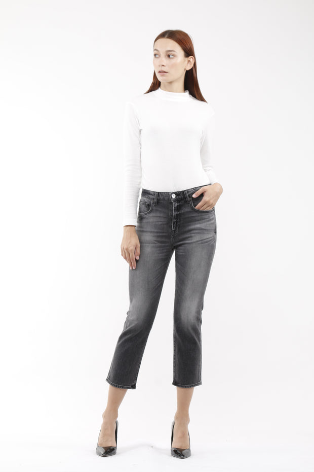 Kate Boot petite Crop Jeans in Smoulder