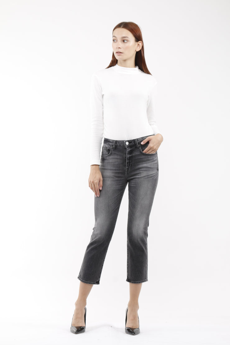 Kate Boot Crop Jeans in Smoulder