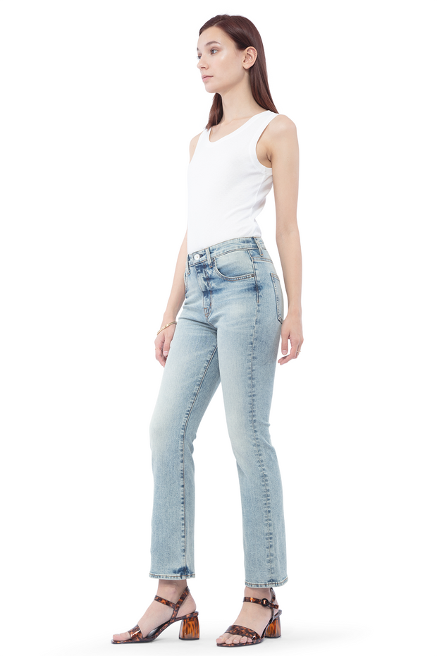 Kate Boot Crop Jeans in Salt
