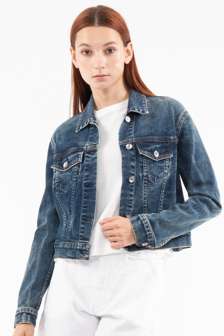 Kathleen Box Crop Jacket in Rest