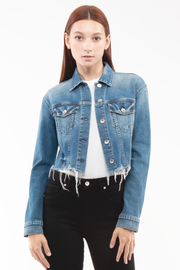 Kathy Box Crop Jacket Destroyed in Rise