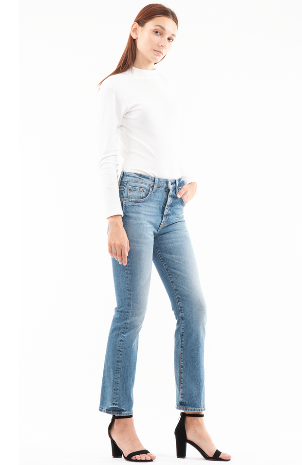 Kate Boot Crop Jeans in Labor