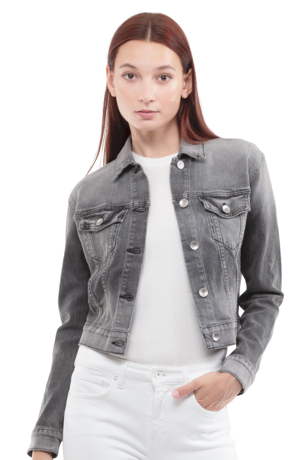 Kathleen Box Crop Jacket in Smoulder