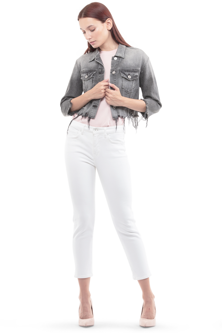 Ally Tapered Jeans in White