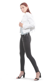 Hanna Mid Rise Skinny in Black